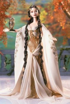 Ok, I hate Barbie, but this dress is quite pretty. Goddess of Wisdom™ Barbie® Doll Barbie Style, Barbie Blog, Barbie I, Barbie World, Barbie Clothes, Sewing Clothes, Poupées Barbie Collector, The Collector, Barbie Friends