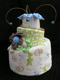 Diaper Cake  Unique Topsy Turvy