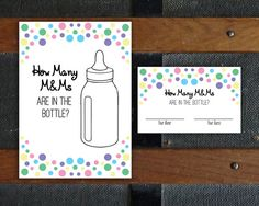 Printable DIY How Many M&Ms Game, Baby Shower Game, Shower Games, Letter Sized Page, PDF