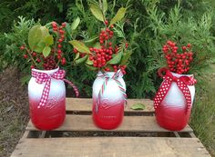 Quart Christmas Mason Jars by VintageWeddinGrl on Etsy