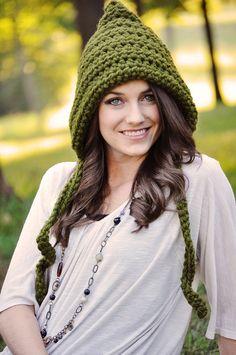 15 Off Sale Women's Pixie Hat Crochet Hat by SimplyMadeByErin