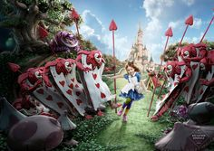 Disney by Mecanique Generale 3D imaging , via Behance. Alice