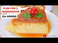 FLAN PERFECTO SOLO 3 INGREDIENTES Y SIN HORNO| ROSVI HERNANDEZ - YouTube Best Cooker, Healthy Dessert Recipes, Cheesecakes, Deserts, Food And Drink, Pudding, Make It Yourself, Eat, Cooking