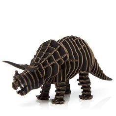 Cardboard animal kit- Triceratops.