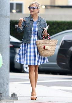 0c327ebe92a8 Flirty style  Reese Witherspoon looked summer chic walking in Los Angeles  on Friday with her