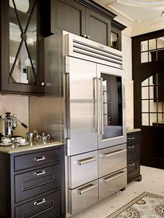Coffee counter and beautiful refrigerator