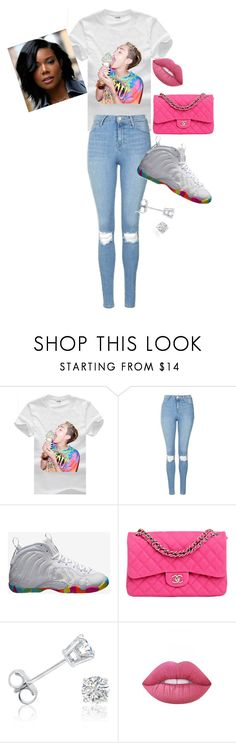 """""""A day out"""" by icyshenderson-1 ❤ liked on Polyvore featuring Cyrus, Topshop, NIKE, Chanel, Amanda Rose Collection and Lime Crime"""