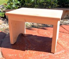 Shaker Inspired Unfinished Wooden Stool