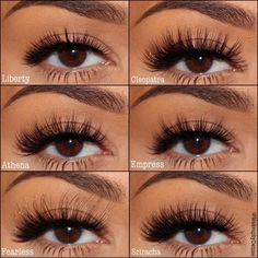 "Eyerís Beauty False Eye Lashes: Liberty, Cleopatra, Athena, Empress, Fealess, Sriracha - ""The world's best 3D silk lashes. 100% Cruelty-free & Fur-Free. We ship worldwide!"" http://www.eyerisbeauty.com/ #eye #makeup #falsies"