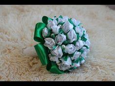 Fabric flowers: camellia kanzashi/tutorial/Цветы из ткани:камелия канзаши. МК - YouTube