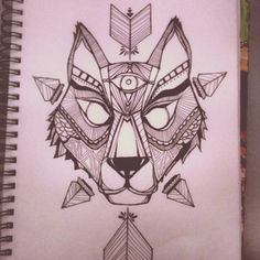 The Anatomy of a Starry Mind.: Geometric wolf.