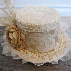 Shabby Chic Wedding Top Hat Steampunk Wedding by Triptastica, $75.00