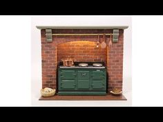 See how the MDF model is transformed into a realistic brick finished model Miniature Kitchen, Miniature Houses, Miniature Dolls, Kitchen And Bath, Kitchen Decor, Kitchen Design, Victorian Kitchen, Victorian Dolls, Mold And Mildew