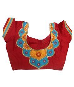 Saree Jacket Designs, Saree Blouse Neck Designs, Fancy Blouse Designs, Plain Saree With Heavy Blouse, Chudi Neck Designs, Blouse Desings, Saree Jackets, Designer Blouse Patterns, Blouse Models