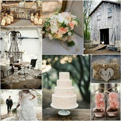 Colors: brown, tan, shades of green, pop of light coral. rustic beauty wedding