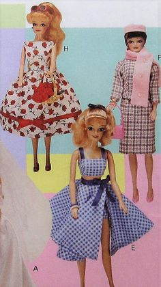 Vintage Style 11.5 Fashion Doll Clothes Sewing Pattern