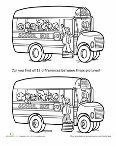 Worksheets: Spot the Difference: Back to School