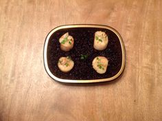 Scallops with Black Rice