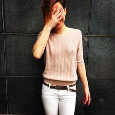 Delicate #aymara #knitwear #pink #merino #wool #pullover 106,00 € at https://www.goodshaus.com/AYMARA-Pullover-Cindy-Pink