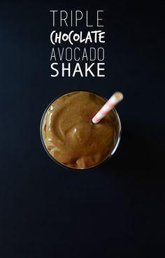 Triple Chocolate Avocado Shake