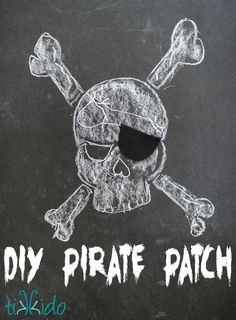 How to make an easy, quick, no-sew pirate patch out of felt for your Halloween…