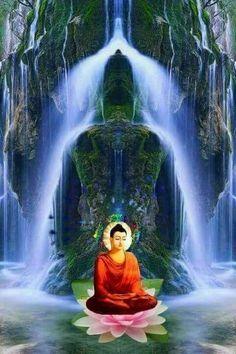 """Human behavior flows from three main sources: desire, emotion, and knowledge. "" ~ Plato ॐ lis Buddhist Monk, Buddhist Art, Buddha Wallpaper Iphone, Zen Art, Human Behavior, Floral Wall, Art Of Living, Serenity, Waterfall"