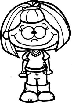 WorksheetJunkie: Free Teacher Clipart Adult Coloring Book Pages, Animal Coloring Pages, Colouring Pages, Coloring Sheets, Coloring Books, Drawing For Kids, Art For Kids, Cute Clipart, Girl Clipart