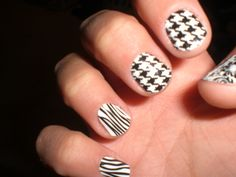 black and white - iheartmynails.jamberrynails.net