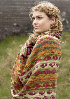 BEACH ROSE SHAWL, Green knitkit - knitting - Yarn kits - knit - knitkits - Lambswool & Alpaca Wool