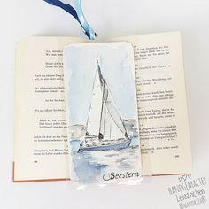 Books are like a portable little Journey into the whole wide world.  Bücher sind wie eine tragbare kleine Reise in die große weite Welt. .  #wandklex #malerei #handgemalt #aquarell #hahnemühle #kunst #art #watercolor #watercolour #boot #boat #meer #marine #maritim #etsy #etsyde #dawanda #dawandade #etsyseller #etsyfinds #etsygifts #etsyfindes #reading #lesezeichen #bookmark #book #Lesen #booklovers