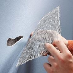 Aluminum screen wall patches make drywall repair simpler and faster.