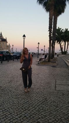 Perfect evening in Cascais, Portugal with my Eva Clutch on :)