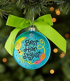 Gift for Your Hairdresser - Hairstylist Extraordinaire Ornament ...