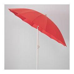 SAMSÖ / LÖKÖ Umbrella with base - tilting red/gray - IKEA