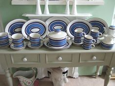 Midwinter Stonehenge Oven to Tableware,Blue Moon Six Setting Dinner/Tea Service. in Pottery, Porcelain & Glass, Pottery, Midwinter | eBay