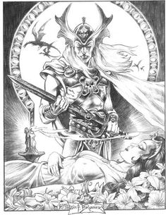 Frank Brunner- Elric & The Sleeping Sorceress.