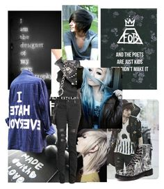 """""""#Emo"""" by ela-shi-atat ❤ liked on Polyvore featuring Dr. Martens"""