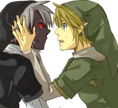 What's the matter, Dark Link?! (I have no idea what he can tell him!)