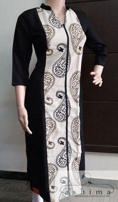 Code:18111711 - Price INR:990/- , Printed Cotton Kurti. Churidar Designs, Kurta Designs Women, Dress Neck Designs, Blouse Designs, Kurta Neck Design, Batik Fashion, Kurti Designs Party Wear, African Fashion Dresses, Indian Designer Wear