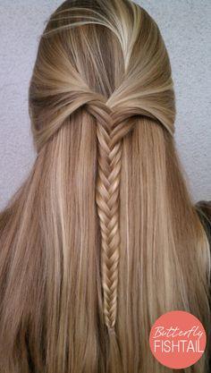 Butterfly Fishtail Braid | Long Hairstyles | Summer Braids ♥