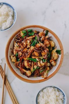Roasted cauliflower stir fry