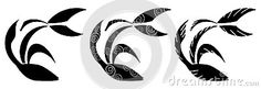 A set of three stylized fish in black and white. An idea with different uses, but that is very suited to be used as tattoo or logo.