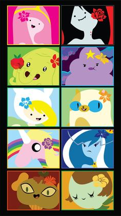 Ladies of Adventure Time Stickers 10pk by BoxOfOddities on Etsy https://www.etsy.com/listing/86715735/ladies-of-adventure-time-stickers-10pk