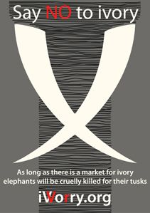 Decreasing the demand for ivory will decrease the numbers of elephants being slaughtered each month for their tusks.