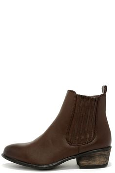 Barista Brown Chelsea Boots at Lulus.com!