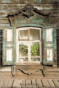old weathered window