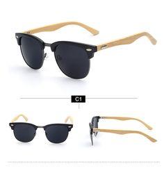 bamboo sunglasses wood for women / men - free shipping worldwide