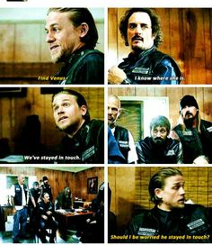 """""""Should I be worried he stayed in touch?"""" ~ Jax Teller ♊️ #Venus #Tig"""