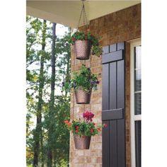 New England Pottery 3-Pot Vertical Planter