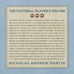 Basketball Player's Prayer by Roxanne Buchholz Football Prayer, Fall Football, Football Quotes, Football Is Life, Football Girls, Football Art, Athletes Prayer, Football Motivation, Baseball Coach Gifts
